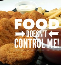 Food doesn't control me