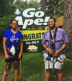 Zip lining is our non scale victory