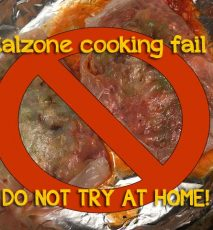 The calzone cooking fail