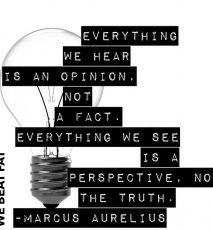 Monday Motivation: Truth vs. Perspective