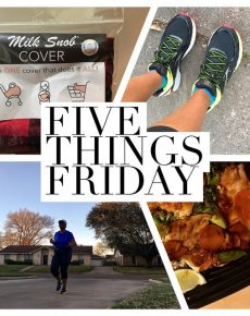 Five Things Friday: finally blogging edition