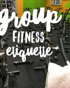 Group fitness etiquette