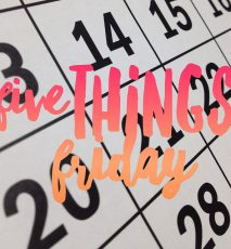 Five Things Friday #1