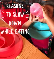 Reasons to slow down while eating